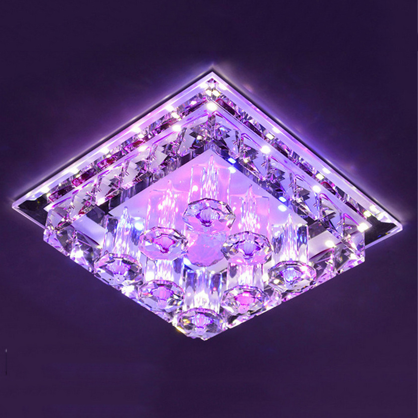 Modern LED Crystal Ceiling light surface mounted style Ceiling ...