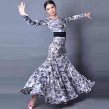 Бальные платья для танцев, женские костюмы для танго вальса с длинным рукавом, женские костюмы для бальных танцев W12028