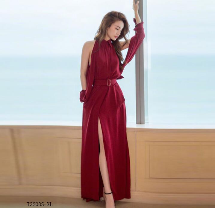 Slim 2019 Photo Printemps Robe Tempérament Vêtements Solide Européen Vintage T3203 D'été Femmes Color Mode Style Nouveautés Couleur HqPwnZ