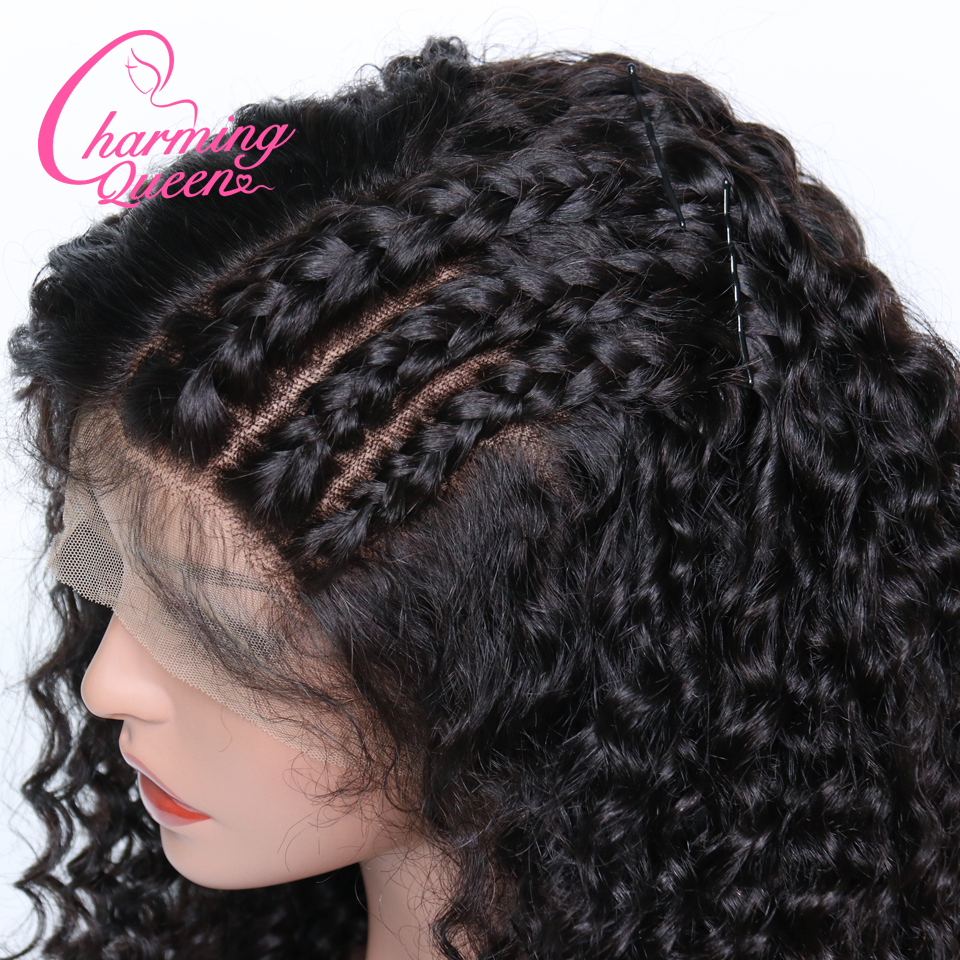 Curly 360 Lace Frontal Wig For Black Women 150 Density Pre Plucked Human Remy Hair 360
