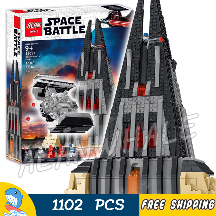 1102pcs Darth Vaders Castle 35037  Model Building Blocks Children Kids Toys Bricks Compatible With lego1102pcs Darth Vaders Castle 35037  Model Building Blocks Children Kids Toys Bricks Compatible With lego