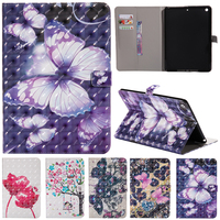 Fashion Painted Stand Flip PU Leather For Samsung Galaxy Tab E 9 6 Case For Samsung