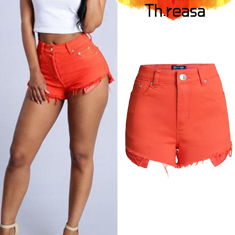 Online Get Cheap Orange Denim Shorts -Aliexpress.com | Alibaba Group