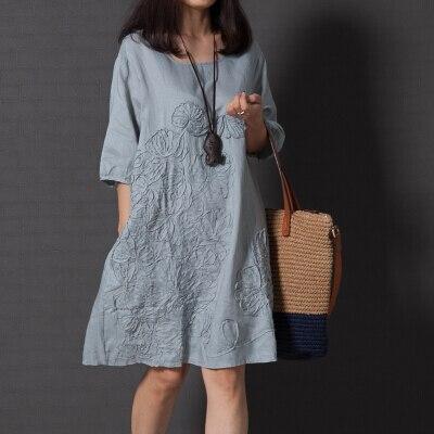 robe lin coton femme. Black Bedroom Furniture Sets. Home Design Ideas