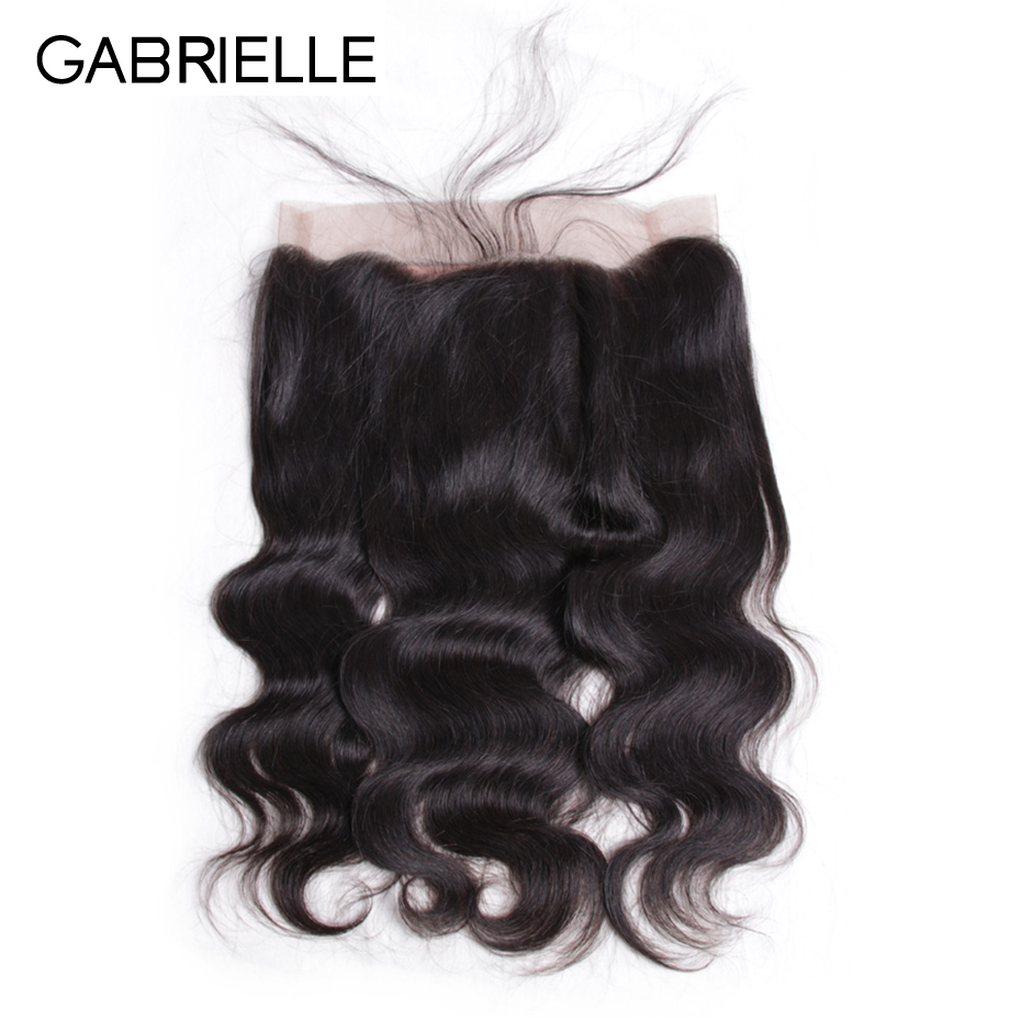 Gabrielle Closure Lace-Frontal Non-Remy-Hair Body-Wave Natural-Hairline Human Brazilian
