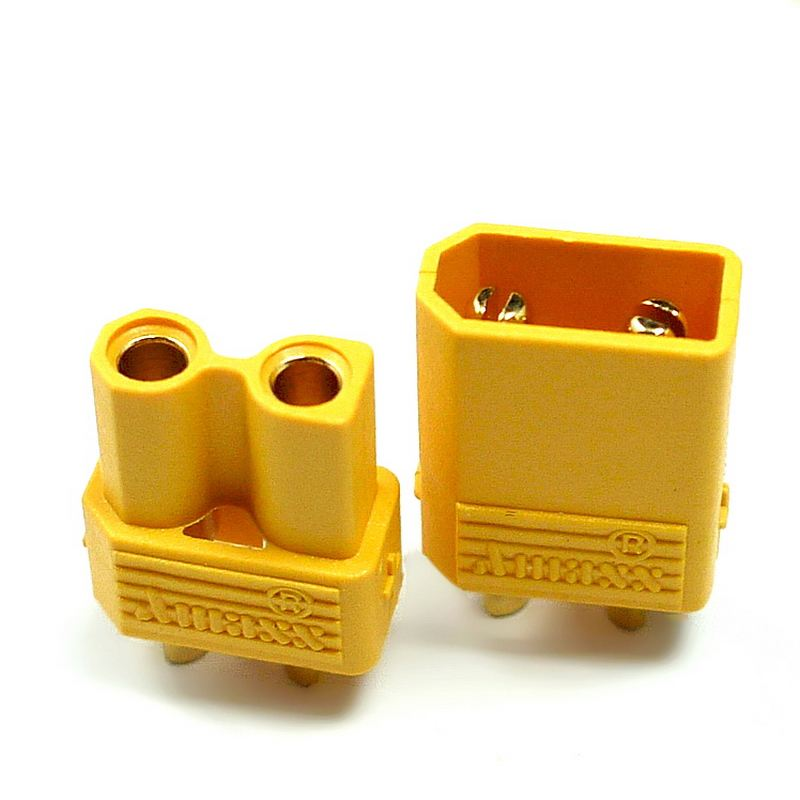 5 Pairs Hot Selling Yellow Amass XT30 High Quality Male Female Gold-plated Battery Connector Plug For RC Aircraft