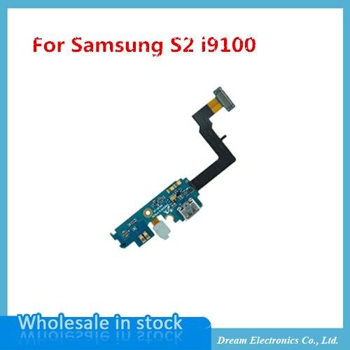 imágenes para MXHOBIC 10 unids/lote Alta Calidad Conector Dock De Carga Flex Cable Para samsung Galaxy S2 i9100 USB parte flex Envío Gratis