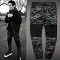 mens joggers 2017 New skinny men pants camouflage hip hop jogger pants military camo harem pants men cargo pants justin bieber
