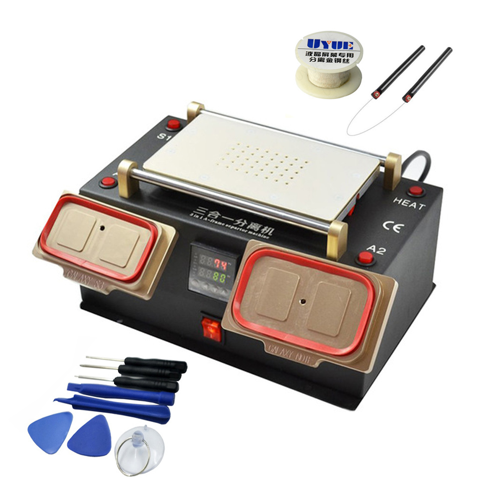 New Arrival 3 in 1 Built in Vacuum Pump Touch Screen Separator LCD Middle Bezel Frame