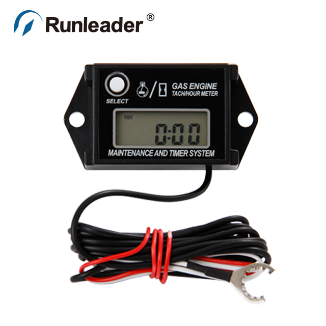 Digital Waterproof Maintenance Minder Rpm Tachometer Hour Meter For Motorcycle Pit Bike Chainsaw Lawn Mower Outboard