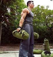Оптовая продажа 20 кг Ёмкость Вес Холст Ткань физическая подготовка мешок с песком увеличение мышечной Фитнес силовых тренировок с песком