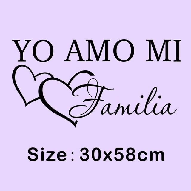 Family Quotes In Spanish New Creative Yo Amo Mi Familia Spanish Vinyl Wall Sticker Love  Family Quotes In Spanish