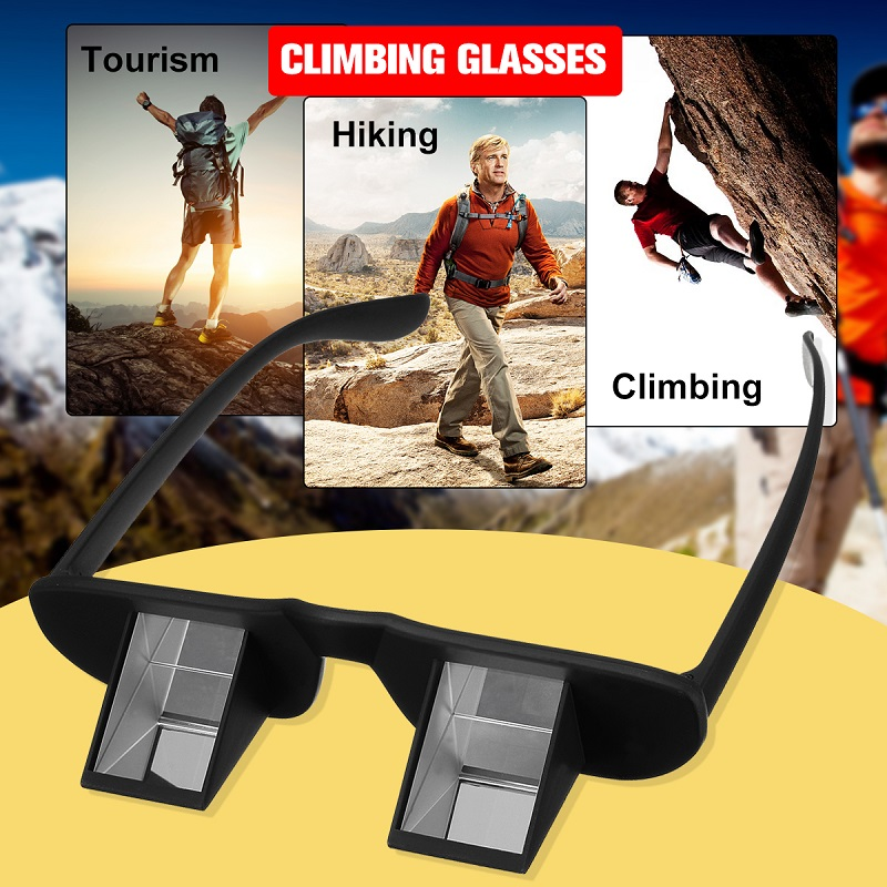 Lazy Climbing Glasses Horizontal Prisma Refraction Lazy Goggles Spectacles Mountaineering Glasses Camping Hiking Eyewear