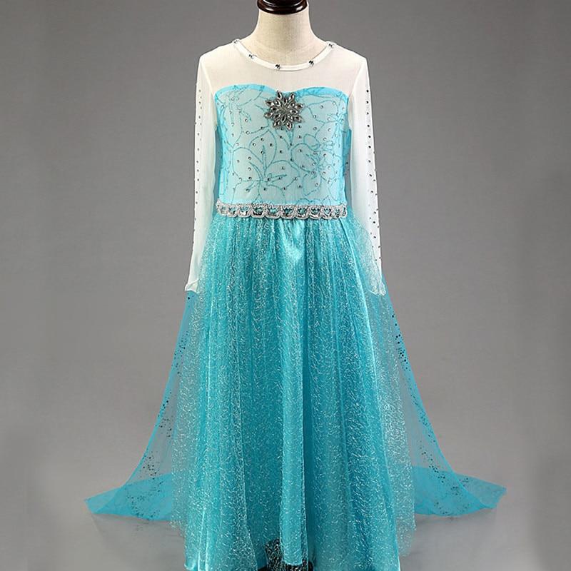 2016 yay Elsa Dress Baby Qızlar Partiyası geyimləri Uşaqlar - Uşaq geyimləri - Fotoqrafiya 1