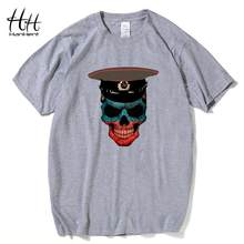 HanHent Army Skull Tshirt Russian Style Brand Clothing Mens T shirt Punk Rock Cotton Male Short Military Shirt Breaking Bad(China)