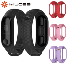 Get more info on the Mijobs New Design Silicon Wrist Strap For Xiaomi Mi Band 3 Accessories Mi Band 3 Bracelet TPU Non-slip Wristband Miband 3 Sport