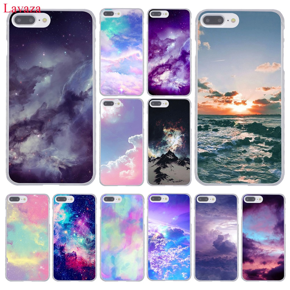 Lavaza Pink cute kawaii sky space Sunset Cloud Art Phone Case for iPhone XR XS Max X 8 7 6 6S