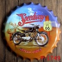 Speedway Speed Fires vintage home decoration Modern Garage Tin Signs Retro Beer Bottle Cap Metal Poster Wall Decor feyenoord