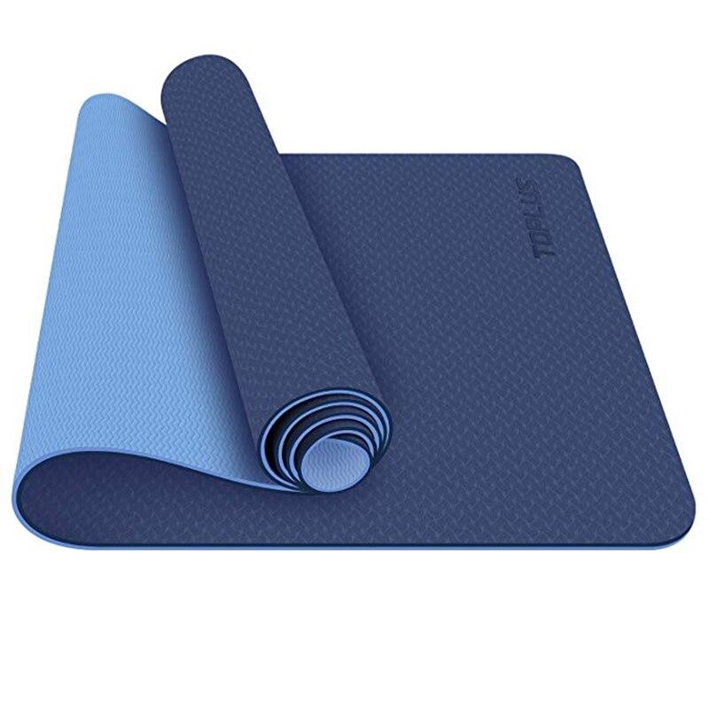 Tapis de Yoga classique 1/4 pouces Pro tapis de Yoga écologique tapis d'exercice de Fitness antidérapant avec sangle de transport-tapis d'entraînement pour le Train de Yoga