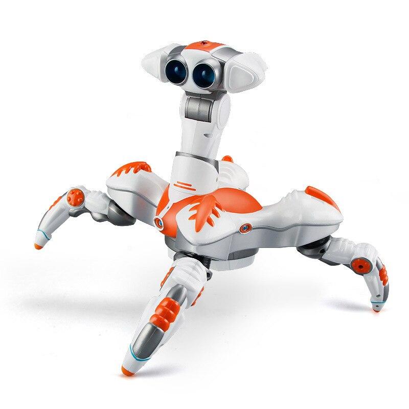 Di controllo remoto del robot giocattolo educativo modello di danza musica elettrica rotante e la danza Leggero robot Elettronico per il regalo del capretto - 4