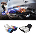 Twins Rear Exhaust Muffler Tail Pipe Tail Throat Muffler Tip For Ford Focus 2 Kia Rio K2 Mazda 6 5 Peugeot 207 307 Cruze