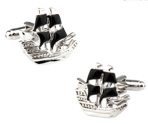 Pirate ships sailing cufflinks Marine series cuff nails French shirt fashion jewelry best friends High-quality wholesale