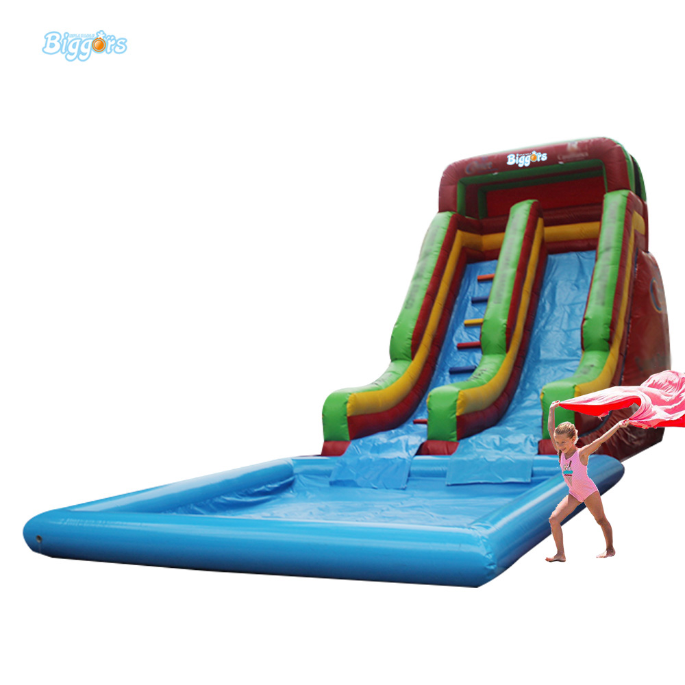 Inflatable Biggors Cheap Pool Giant Inflatable Water Slide From China commercial inflatable water slide with pool made of pvc tarpaulin from guangzhou inflatable manufacturer