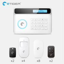 ФОТО chuangkesafe etiger gsm/pstn wireless & wired alarm system 8 x door/window sensor andriod/ios for home/office/factory
