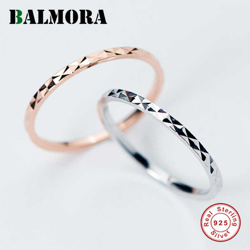 BALMORA 1 قطعة 100% ريال 925 فضة مجوهرات فنجر ميدي المفصل خواتم للنساء سيدة تكويم حلقة مشتركة Anillos r390