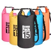 15L Водонепроницаемая водонепроницаемая сумка мешок мешочки для хранения продуктов плавания на открытом воздухе каякинга каноэ речной похо...