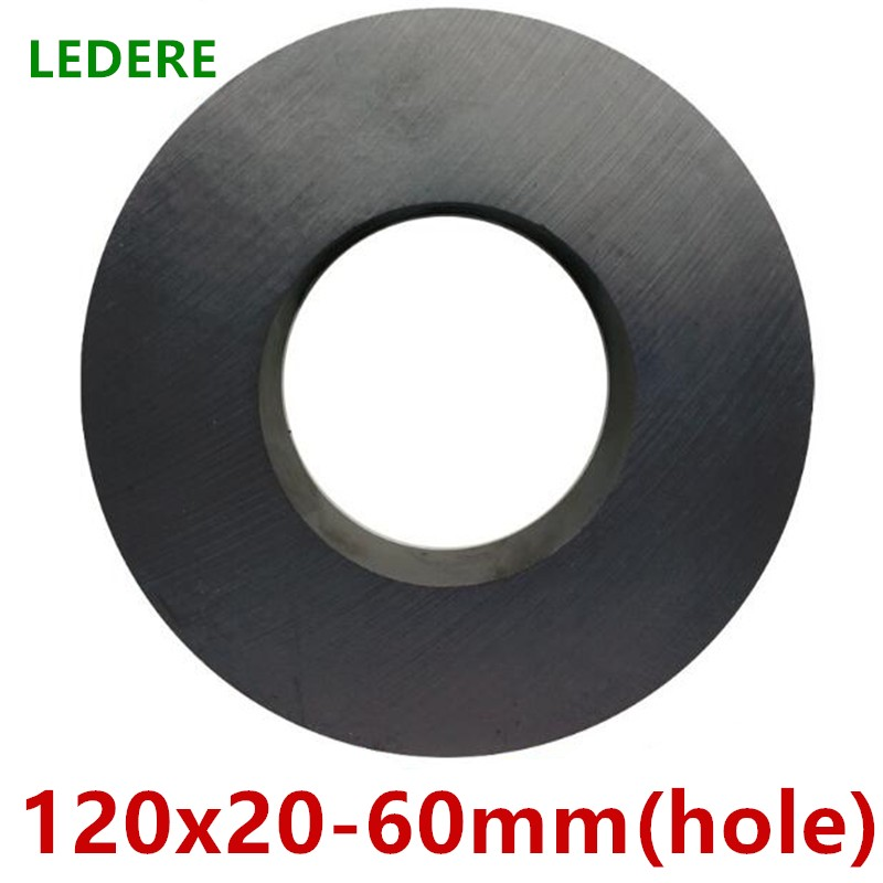 1pcs lot Y30 Ring Ferrite Magnet 120*20 mm Hole 60mm Permanent magnet 120mm x 20mm Black Round Speaker 120X20 120-60*20 ring ferrite magnet 3pcs pack dia60 32x10mm 60 10 32mm black magnet