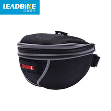 Leadbike Bicycle Seat Bag With Reflective Strip Polyester 600D 3 Size Waterproof Outdoor Sport Travel Cycling Saddle Bag For Men