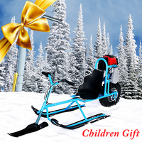 電気スキー車両子供シングルボード燃料スノーモービル指向性雪そりスキーボード子供スキー機器 -