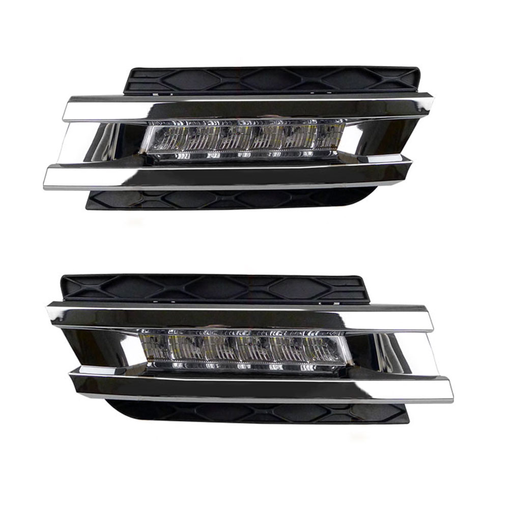 DRL Daytime Running Lights for Mercedes Benz W164 GL320 GL350 GL420 GL450 GL550 2006 2007 2008 2009 LED Daylight Signal Light left and right car rearview mirror light for mercedes benz w164 gl350 gl450 gl550 ml300 ml350 turn signal side mirror led lamp