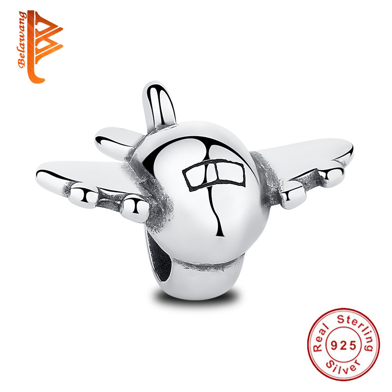 BELAWANG Real 925 Sterling Sølv Fly Fly Flydende Charms Passer Original Armbånd med Fly Fighter DIY Smykker