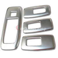 Stainless Steel Inner Window Armrest Lift Switch Cover Trim 4pcs For Ford EVEREST SUV 4DR 2015 2016 car styling accessories
