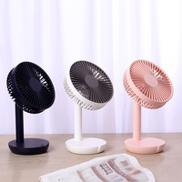 3 Colors DC5V USB Desktop Fan Mini Portable Fan Built in 4000mAh Battery 5 Gears Fan Speed Small Desktop Ventilator