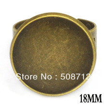 free shipping!!!!! DIY Ring Findings ---- Adjustable Bronze Color Insize 18mm Ring Settings ,RIng base цена 2017