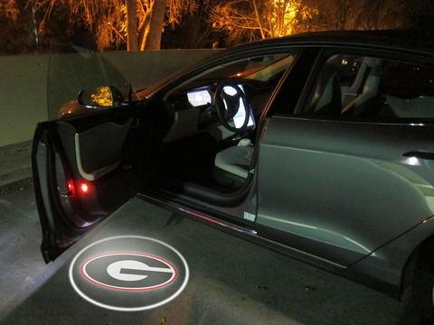 2x Drahtlose LED Auto Tür Licht Auto Styling Georgia Bulldogs Schatten Logo lampe
