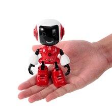 99611 Радиоуправляемый мини-робот, умный робот с сенсорным управлением, DIY моделирование разговора, светодиодный светильник, радиоуправляемые игрушки, держатель для телефона, подарок для детей