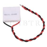 CNBTR 2 5x2 5cm White TEC1 4905 Imax 5V 85N Cm2 Heatsink Thermoelectric Peltier Cooler Plate