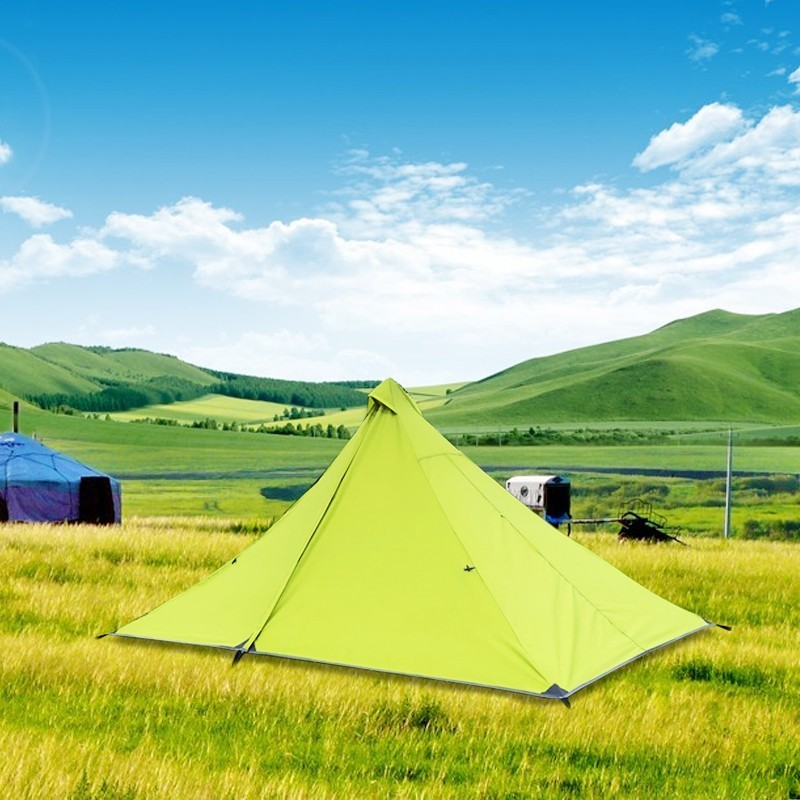 Ultralight Single Person Camping Mesh Tent Dual Layer Waterproof Outdoor Tent One Room One Hall 4