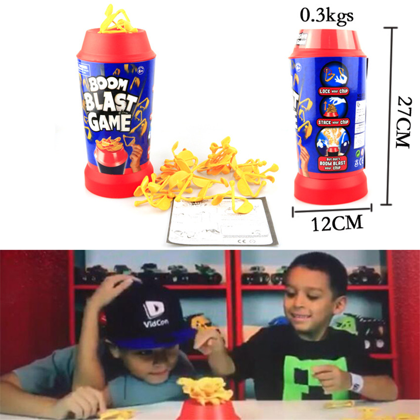 New Boom Blast Game The Explosive High Stacks Game Fries Exploding Bucket Child Gifts Parent-Child Interaction Board Games Toy image
