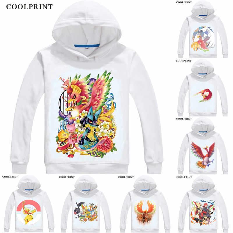 Ho oh Houou Pokedex #250 męskie bluzy z kapturem Pokemon kieszonkowe potwory Poketto Monsuta mężczyźni bluza Streetwear Anime bluza z kapturem długi,