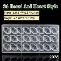 Bakest plastic materiaal hartvorm chocolade schimmel diy bakken tools