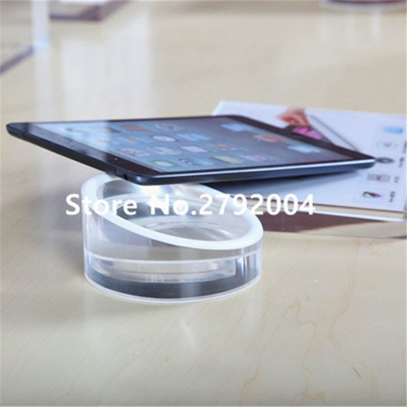 8cm Acrylic security Ipad stand tablet display holder round clear base for apple samsung shop lem htr200 sb sp1 used in good condition with free dhl ems