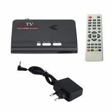 EU Digital Terrestrial HDMI 1080P DVB-T/T2 TV Box VGA AV CVBS Tuner Receiver With Remote Control HDMI HD 1080P VGA DVB-T2 TV Box