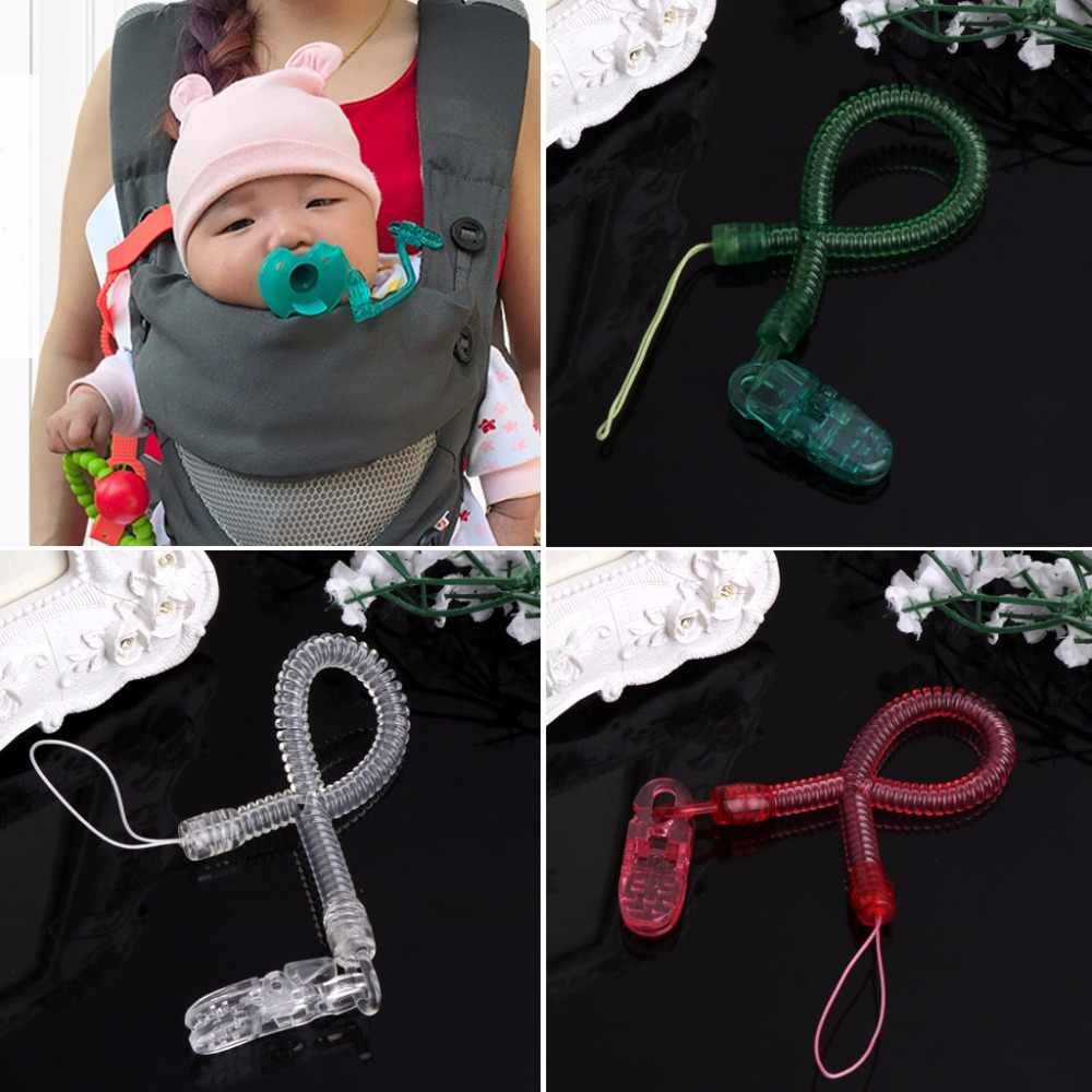 OOTDTY Baby Kids Boy Girl Chain Clip Holders Dummy Pacifier Soother Nipple Leash Strap