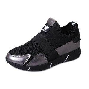 Image 5 - Zapatillas de plataforma para mujer, zapatos vulcanizados a la moda, zapatillas de verano para mujer, zapatos de cuña transpirables, zapatillas planas de baloncesto para mujer 2020