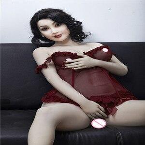 Image 2 - 160 centimetri #7 di Carne di colore della pelle di Alta Qualità Bella donna sexy del sesso robot completo TPE con lo scheletro in metallo del sesso uomini bambola del giocattolo del sesso